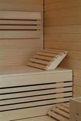 Elementsauna Design Innenansicht